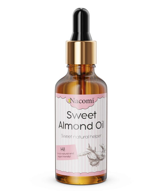 Søt mandel olje med pipette 50Mml – Nacomi