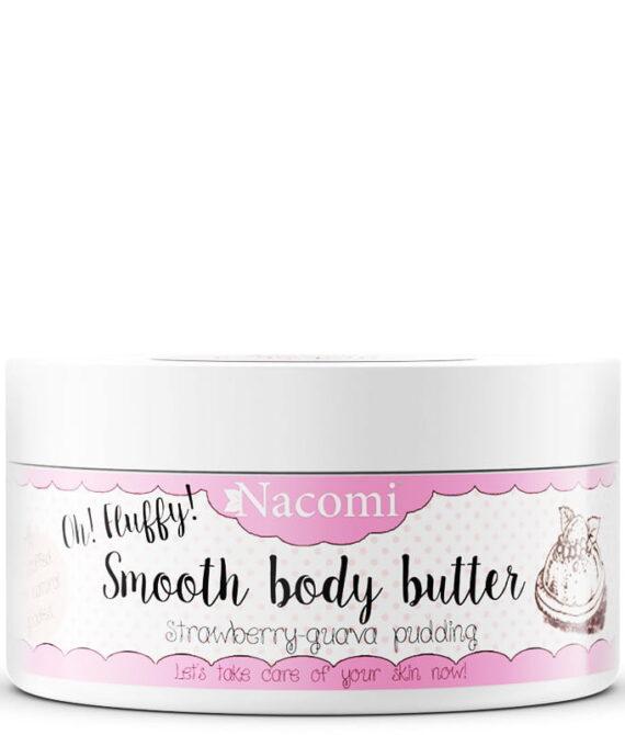 Kroppsmør – body butter strawberry pudding 100g – Nacomi